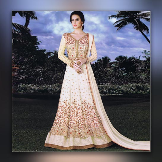 Empire Line Anarkali Dress