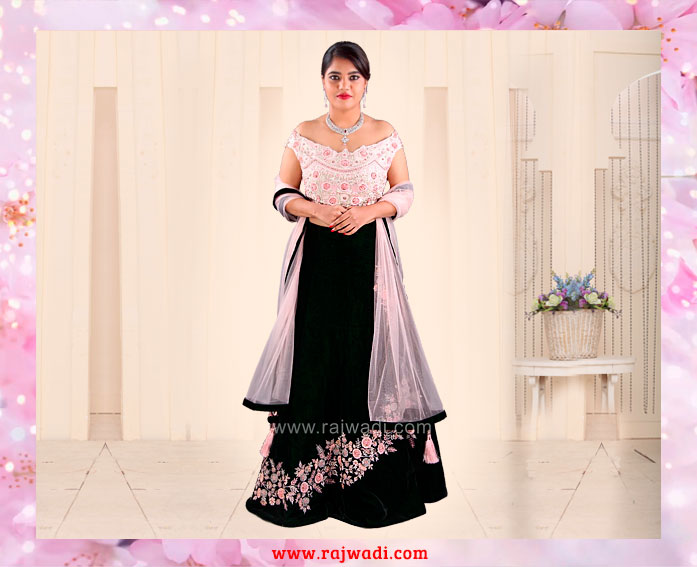 Off_shoulder_lehenga_choli