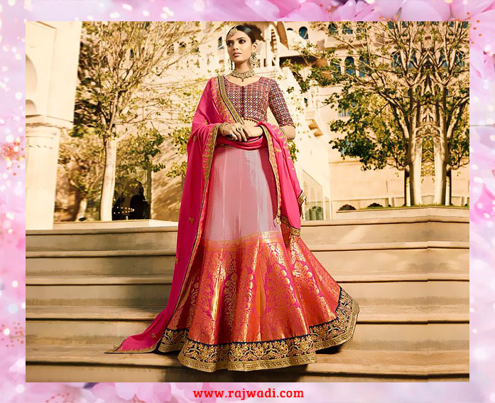 Shaded_Banarasi_silk_lehenga